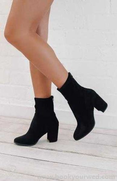 Collection Here Women s Therapy Shoes Hoxton Boot - Black Suede