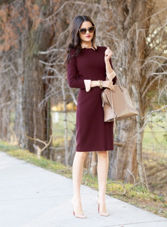 What-To-Wear-With-Work-Dresses-8