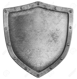 13103920-aged-metal-shield-isolated-on-white