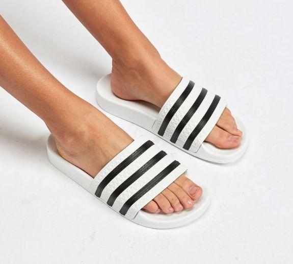 Shop For Women adidas Originals Adilette Slide Sandal - Women adidas Sandals White Black Women Sandals Qia9946 Qia9946_LRG