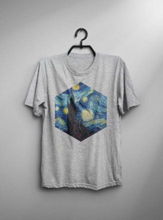 Starry-Night-Van-Gogh-Shirt-Starry-Night-T-Shirt-Van-Gogh-T-Shirt-Man-Tee-Art-Painting-T-Shirt-Birthday-Gift-For-Him-Men-Van-Gogh-Tshirt