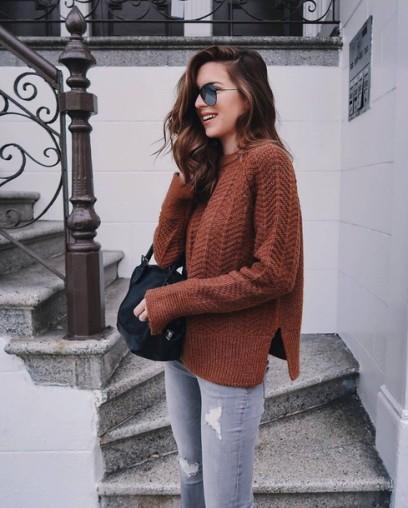 hvmdjq-l-610x610-sweater-tumblr-brown+sweater-sunglasses-aviator+sunglasses-fall+outfits-fall+sweater-denim-jeans-ripped+jeans-bag-black+bag