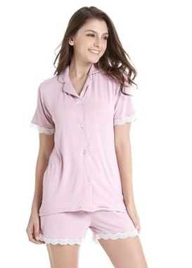 women-short-sleeve-pajama-set-knit-sleepwear-with-shorts-button-down-nightwear-with-lace-500x500